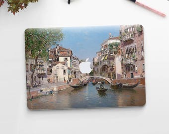 """Martín Rico, """"Rio San Trovaso, Venice"""". Macbook Pro 15 skin, Macbook Pro 13 skin, Macbook 12 skin. Macbook Pro skin. Macbook Air skin."""