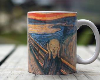 "Edvard Munch, ""The Scream"". 11 oz Ceramic Coffee Mug."