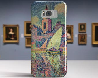 """Paul Signac, """"The Clocktower At St.Tropez"""". Samsung Galaxy Note 8 Case Google Pixel XL Case LG G6 case Galaxy A3 2017 Case and more."""