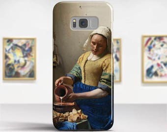 """Jan Vermeer, """"The Milkmaid"""". Samsung Galaxy S6 Case LG G5 case Huawei P9 Case Galaxy A5 2017 Case and more. Art phone cases."""