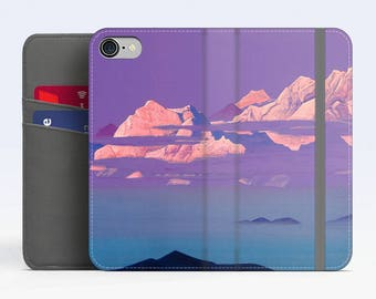 "Nicholas Roerich, ""Himalayas"". iPhone 8 Wallet case, iPhone 7 Wallet case  iPhone 6 Plus Wallet case. Samsung Wallet cases."