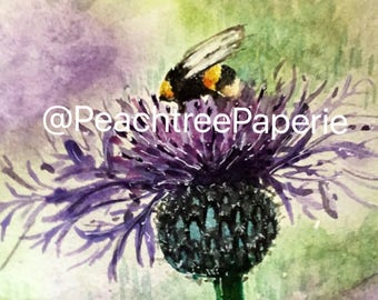 Bumble bee watercolor PRINT