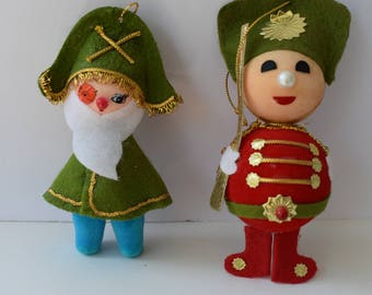 Pirate and soldier ornaments vintage