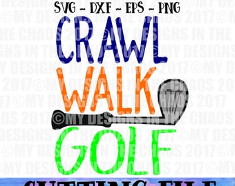 SVG file / Golf svg / Sports Cutting file for Silhouette or Cricut / dxf png eps svg cut file / Sports cut file / Golf cut file / baby svg