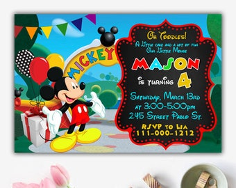 Mickey Mouse Clubhouse Invitation, Mickey Mouse Clubhouse Invitations, Mickey Mouse Clubhouse Birthday, Mickey Mouse Invitation