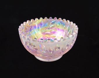 Westmoreland Iridescent Crystal Bowl