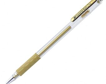 Gold Metallic Gel Pen, Pentel Hybrid Gel K118, To Write On Dark Paper