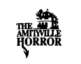 Amityville Horror Vinyl Car Decal Bumper Window Sticker Halloween Any Color Multiple Sizes