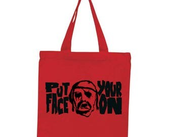 Devils Rejects Put Your Face On Horror Canvas Tote Bag Market Pouch Grocery Reusable Halloween Merch Massacre Black Friday Christmas