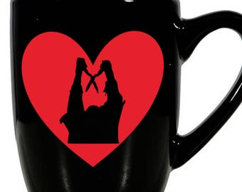 Burning Cropsy Camp Slasher Horror Valentine's Day Love Heart Horror Mug Coffee Cup Gift Home Decor Kitchen Halloween Bar