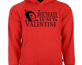 Halloween Michael Myers Slasher Valentine's Day Unisex Hoodie Pullover Sweatshirt Sizes Colors Custom Horror Halloween Merch Massacre