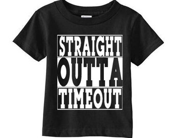Straight Outta Timeout Toddler Short Sleeve T-Shirt