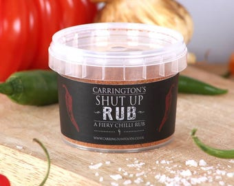 Very Hot Naga Chilli Spice BBQ Marinade Rub, BBQ grilling rubs, gift for him, gift for her, gift for chilli lover