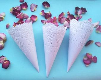 Wedding confetti cones for confetti Petal cones for confetti Wedding petal cones Confetti cones wedding Paper cones for confetti Cones Baby