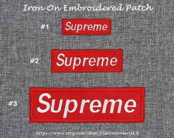 Supreme Iron On Patch Supr Patch Badge Supreme Patch Red Patch Top-quality Embroidered Patch Hip Hop Street Art Patch Bag/Clothing/Hat  #A6