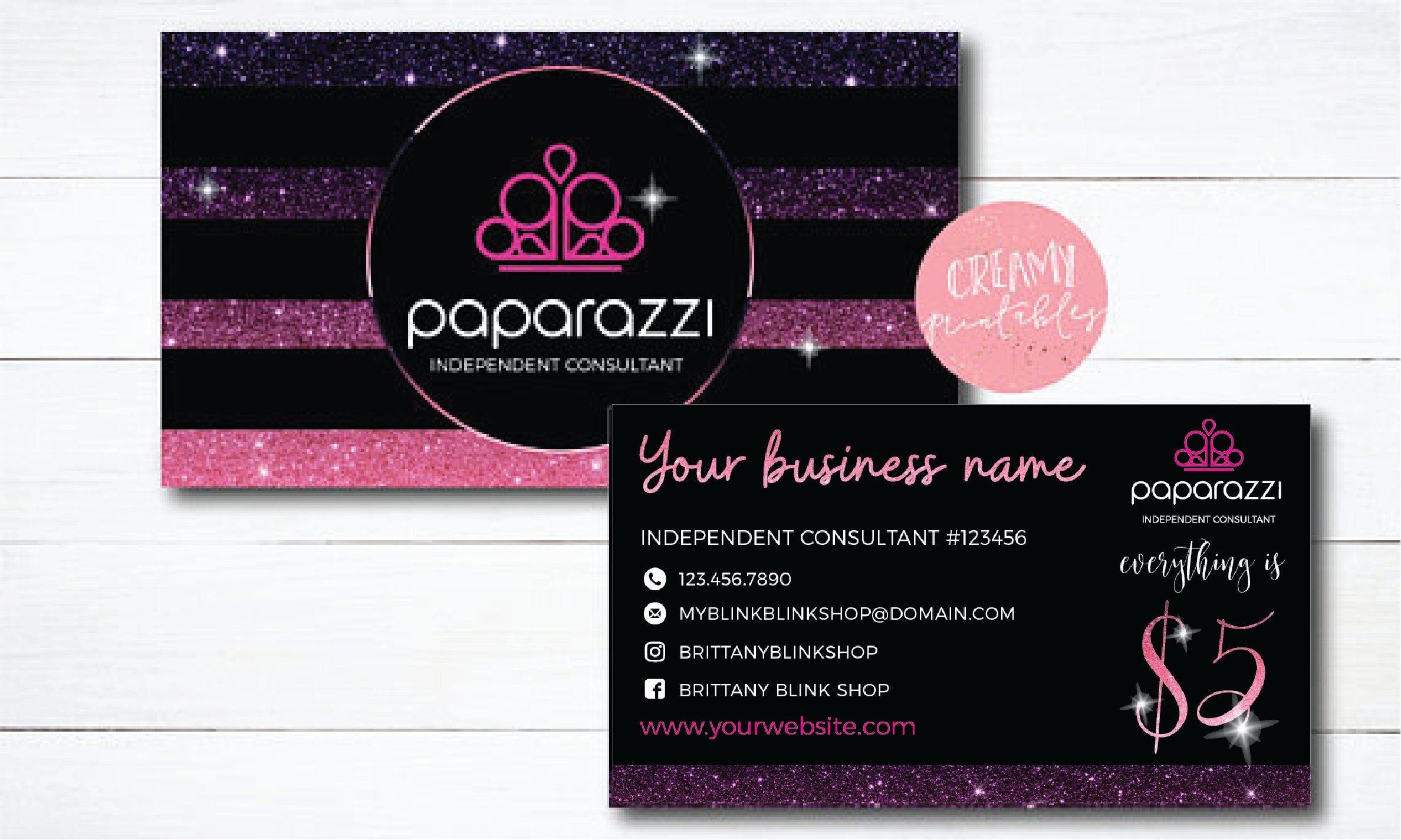 Paparazzi business cards free personalized paparazzi jewelry for Order custom business cards