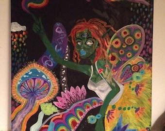 Psycedelic fae painting
