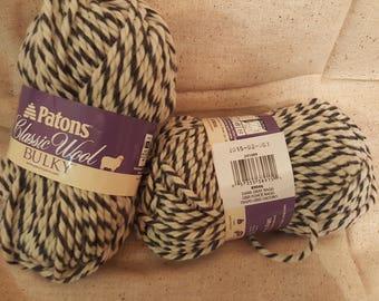 Patons Yarn -  Dark Gray Ragg