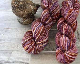 Desert Rose (dark) • Worsted Weight - Superwash Merino - Speckled Yarn - Hand Dyed Yarn - Hand Painted Yarn - Variegated Yarn