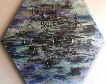 Storm, abstract painting