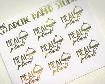 Meal Plan - FOILED Sampler Event Icons Planner Stickers