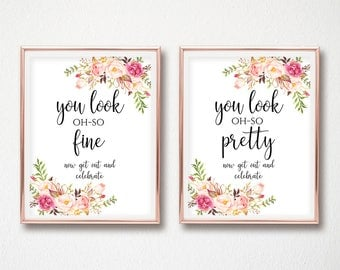 Bathroom Signs Pdf oh so handsome | etsy
