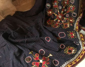 Vintage Sikri fabric/heavy cotton/mirror work/embroidery