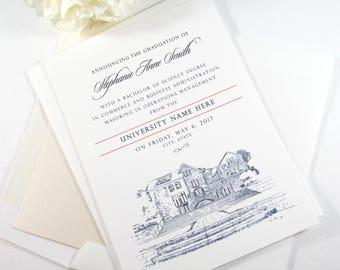 Southern Illinois University Graduation Announcement, SIU Grad, Illinois University, State, College, Tech, Graduation Cards (set of 25)