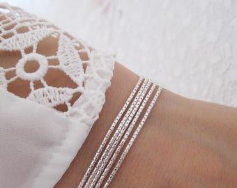 Bracelet multi strand Silver 925/1000 multistring