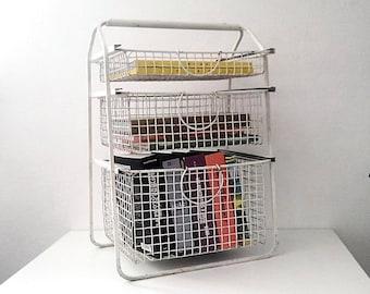 Basket/kitchen drawer metal furniture. Vintage 1960's