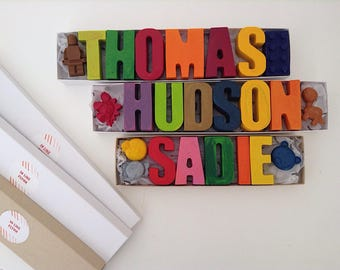Hand Made Personalised Crayons // Kids Crayons // Easter // Wedding Favors // Gift // Party Favours // Stocking Fillers