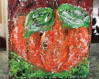 Pumpkin Painting, Pumpkin Art, Fall Decor, Fall Art, Pumpkin