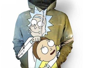 Rick morty hoodie sweatshirt print high quality Women tshirt summer tees top Casual Funny t shirt unisex men women Top Tee