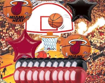 Miami Heat 25 Piece Balloon Set