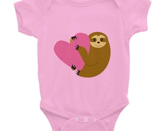 Baby Bodysuit Vest, Baby Clothes, Newborn Baby, Unisex Baby, Long-Sleeved Vest, Baby-grow, Baby Long Sleeve Body, Baby Gift - Cute Sloth