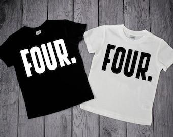 4th Birthday shirt, 4 year old birthday shirt boy, Four shirt, Boys 4th Birthday, 4 year old shirt, Fourth Birthday, Boys Birthday Shirt,