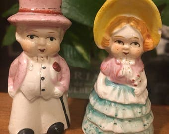 Vintage Lady and Man Salt and Pepper Shakers