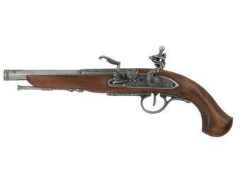 Left Handed English Flintlock Pistol Replica