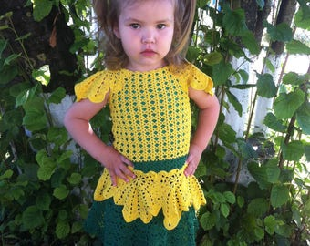 costumes for girl, knitting, knitted costume, clothes for girl