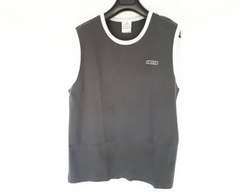 Gray and white vintage 90s ADIDAS tank top L