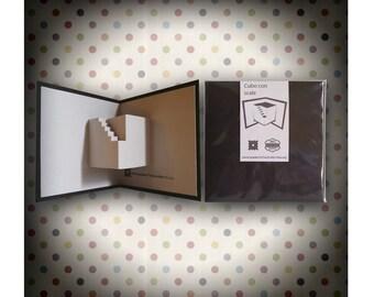 "Ticket 7Nodi ""cube with stairs"" – Kirigami/pop-ups"