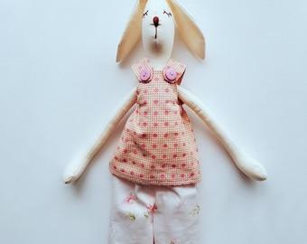 Easter Bunny, Interior doll, handmade doll, fabric doll, soft toy, OOAK doll, Bunny doll, Jane Bunny