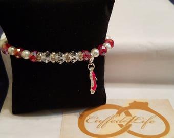 Bracelet with shoe charm