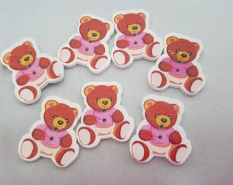 """""""Pooh"""" wood buttons"""