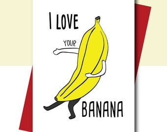 Card for Boyfriend, Funny Love Card - Anniversary Card, Gay couple card, Funny Greeting Card, Naughty Card, Rude Card,  Husband Card, Adult