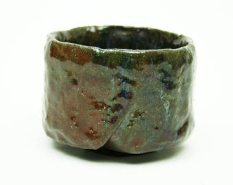Wabi sabi pottery matcha chawan tea bowl for Japanese tea ceremony