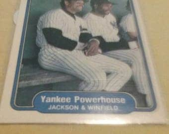 Jackson and Winfield Yankee Card