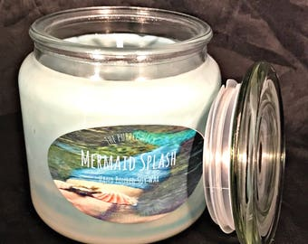 Mermaid Splash (Hand Poured Soy Candles) - Available in Apothecary, Interlude, Tureen, Med. Apoth., & Dodecagon. 2 Day Shipping!