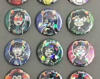 Homestuck Holographic Button Set 2
