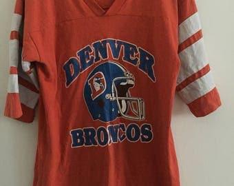 Vintage 90s Denver Broncos Jersey T-Shirt